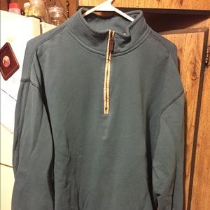 Men's collar zip pull over